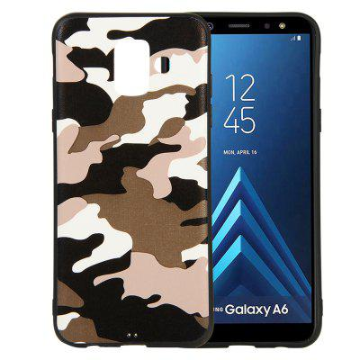 Camouflage Case for Samsung Galaxy A6 2018 Cases Soft TPU Silicon Back Cover