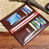 Men's Multi-Card Multi-Function Walle Long Purse Zero Purse and Certificate Bag - BROWN