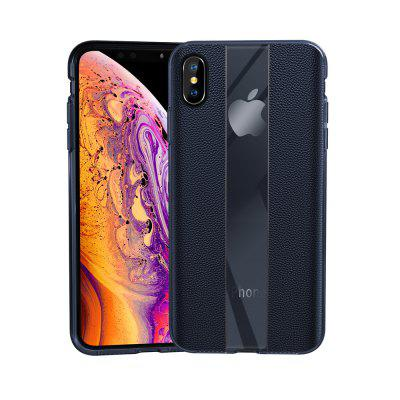 Custodia rigida in pelle di lusso per iPhone XS Max