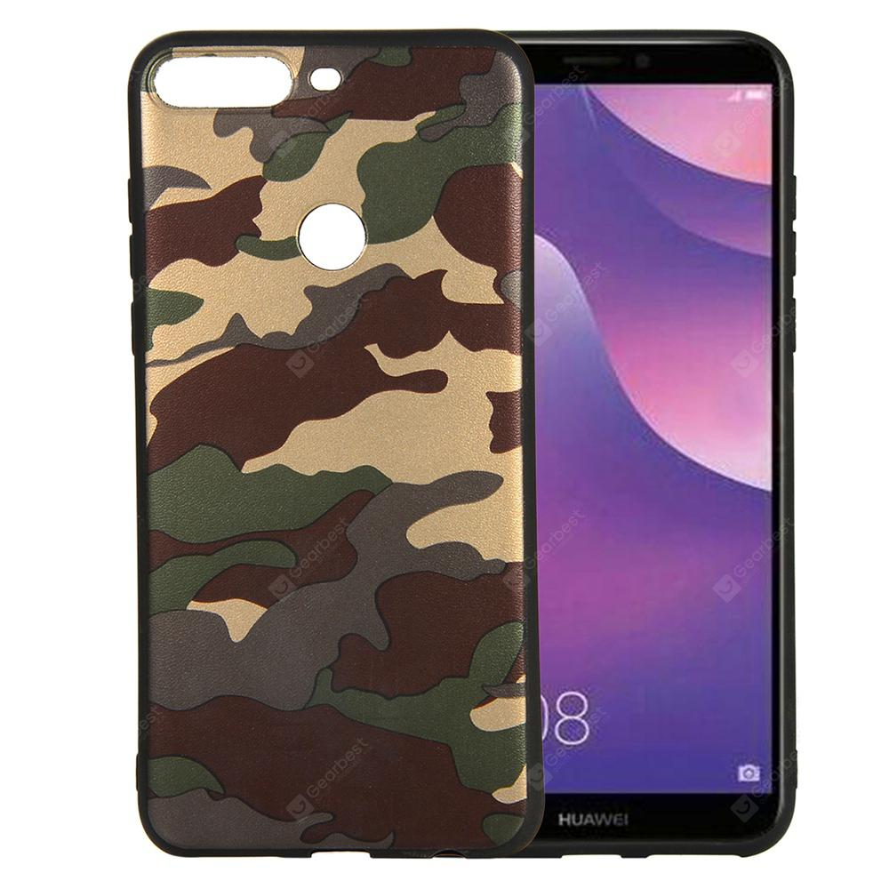 for Huawei Y7 2018 / Y7 Prime 2018 Case Soft TPU Silicon Camouflage Cover