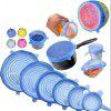 6PCS Reusable Silicone Stretch Lids Keep Fresh Food Kitchen Storage Wraps Cover - BLUE