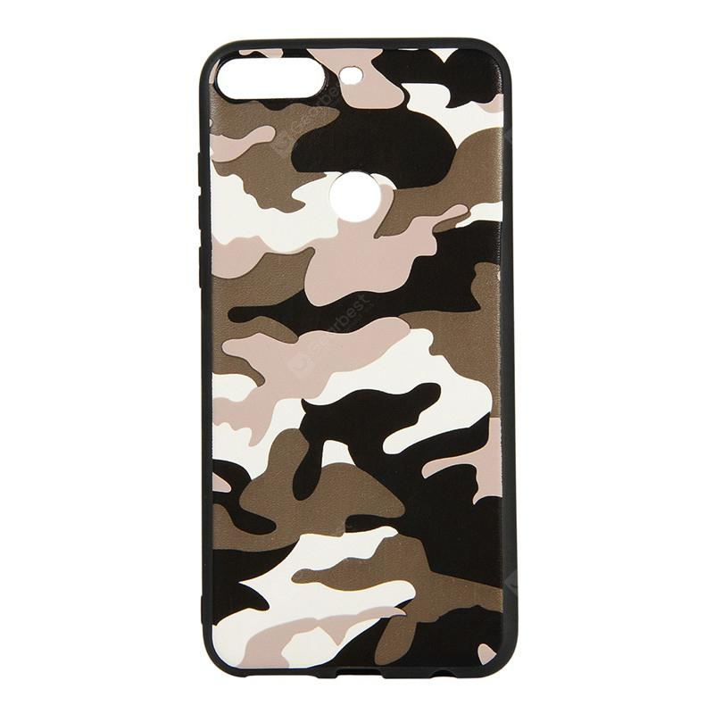 Army Green Camouflage Soft TPU Case for Huawei Y7 Prime 2018 / Y7 2018