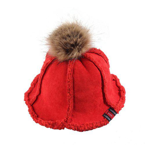 1a41cadef Children'S Suede Basin Cap Autumn and Winter Lamb Hair Fisherman Hat