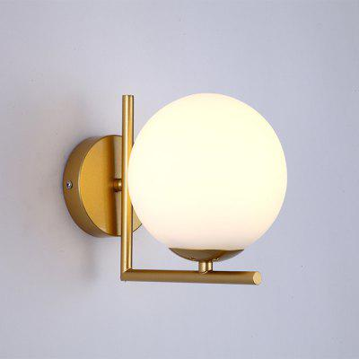 Bedroom  Brief Style Ball Shaped Wall Light