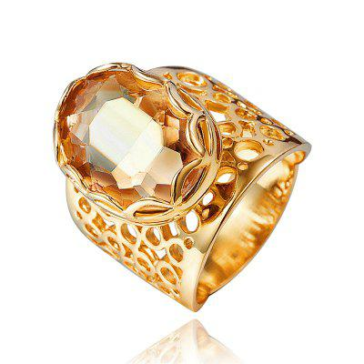 18K Gold Ring For Women Hollow Out Of Zircon Engagement Fashion Jewelry Ring