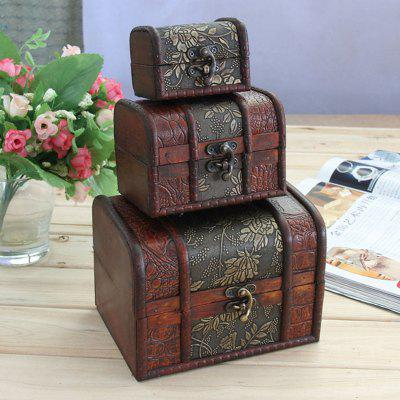 Antique Three-Piece Jewelry Box Birthday Wedding Giftents Gifts