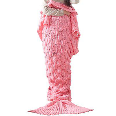 FS Fish Scales Knitted Mermaid Tail Blanket Adult/Child/Baby TV Sofa Blanket