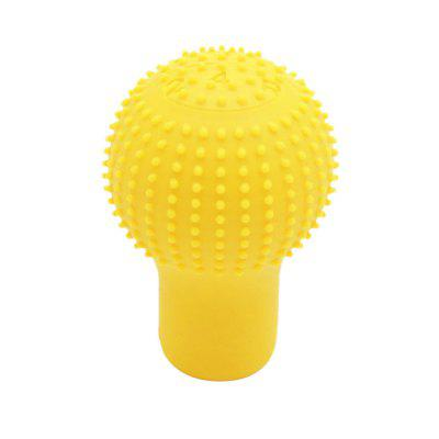Silicone Round Shape 5 Speed Car Gear Head Shift Knob Cover Protector