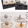 Creative Hollow Lotus Shaped Full Drill Ear Studs Women's - GOLD