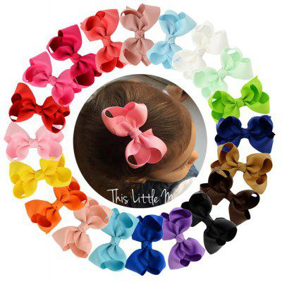 20-COLOR Children'S Hair Clips Multi-Color Curling Butterfly Bow Duckbill Clips