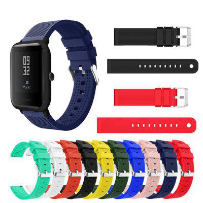 20MM Soft Silicone Sport Watch Band Strap for AMAZFIT Bip Youth