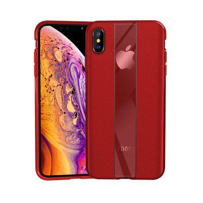 Luxus Leder Textur Shockproof Telefon-Abdeckungs-Fall für iPhone X / XS