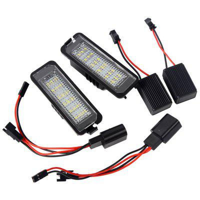 Pair Car 18LED License Plate Lights 6500K 12V for  VW Golf Passat Polo Phaeton