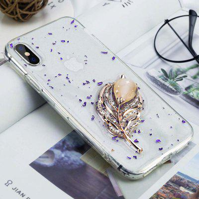 For iPhone XS Max Case Transparent Soft Jewelry Pearl Owl Horse Glitter Cover