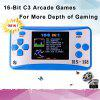 Handheld Game Console Classic Retro Video Gaming Player Portable Arcade System - BLUE