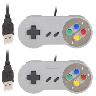 2PCS Game Controller for SNES USB Classic Gamepad / PC MAC Games / Mac os  / XP