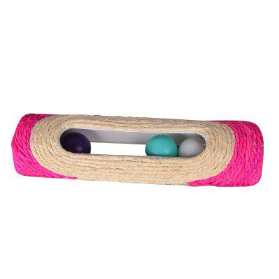 Scratch Plate Cylindrical Sisal Roller Cat Toy