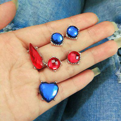European and American Trend Jewelry Dazzling Red Sapphire Crystal Boho Earrings