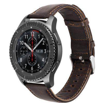 22MM Genuine Leather Watch Band Strap For Samsung Galaxy Watch 46MM