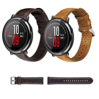 22MM Genuine Leather Watch Band Strap For Huami Amazfit Stratos 2 Smart Watch