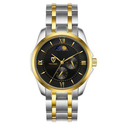 Tevise Automatic Mechanical Luminous Stainless Steel Strap Watch