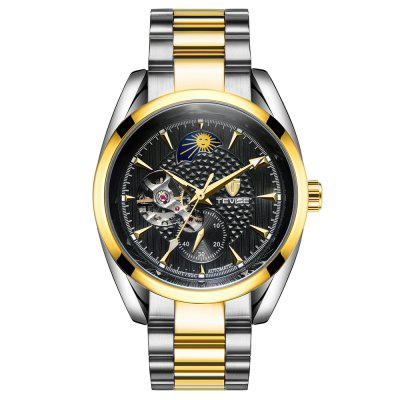 Tevise Waterproof Luminous Stainless Steel Strap Automatic Mechanical Watch