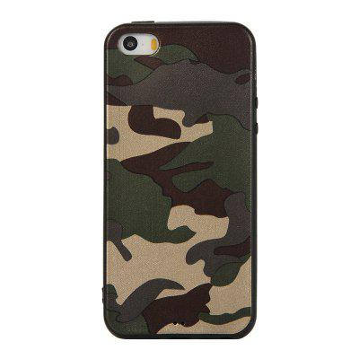Army Green Camouflage Soft TPU puzdro pre iPhone 5 / 5S / SE