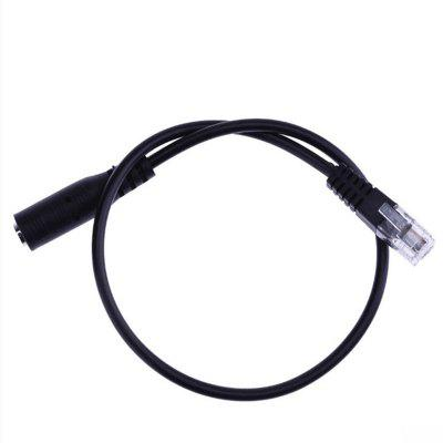 Computer Headset to Telephone Headset 3.5MM to RJ9 Crystal Headset Converter