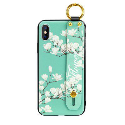 For iPhone XS Max Case Luxury Flowers Strap Lanyard Wrist Strap Soft Cover