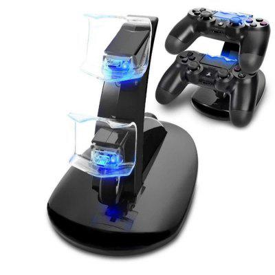 Controller Oplader Dock LED Oplaadstation voor PS4 / PS4 Pro / PS4 Slim