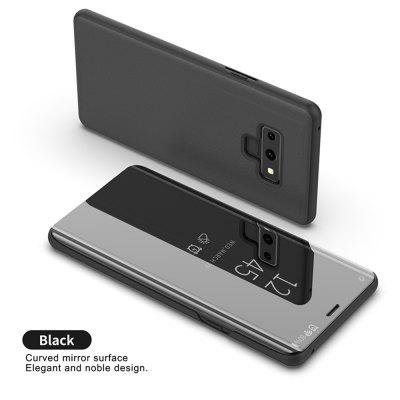 Clear View Mirror Case For Samsung Galaxy Note 9 Flip Leather Stand Cover