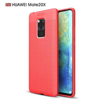 Pour HuaweiMate20x XLitchi Grain Phone Cover