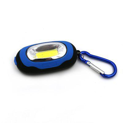 Portable Mini Keychain Flashlight Pocket Torch 3Modes COB LED Light With Battery