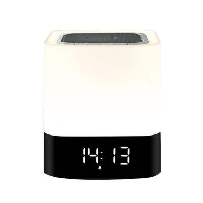 Smart Touch Bluetooth Speaker Clock LED Dimmable Colorful Night Light