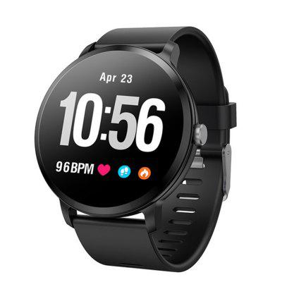 V11 Round Screen Waterproof Smart Bluetooth Heart Rate Meter Step Watch Image
