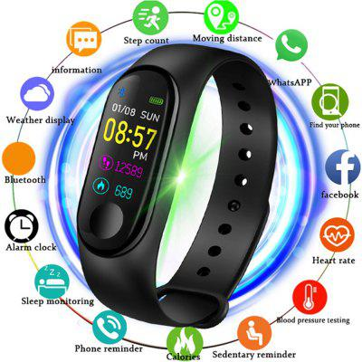 V5 M3PLUS Intelligent LED color screen watch running health pedometer
