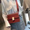Stylish One-Shoulder Slanted Straddle Bag for Women With Locks - RED WINE
