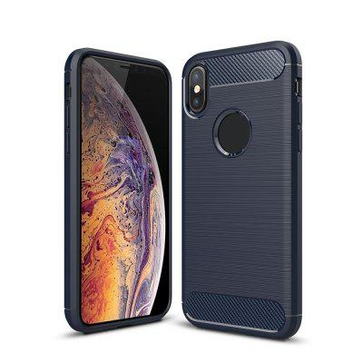 For Iphone xs Version Carbon Fiber Brushed Mobile Phone Case