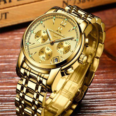 Business Luminous Wristwatch Waterproof Stainless Steel Quartz Watch