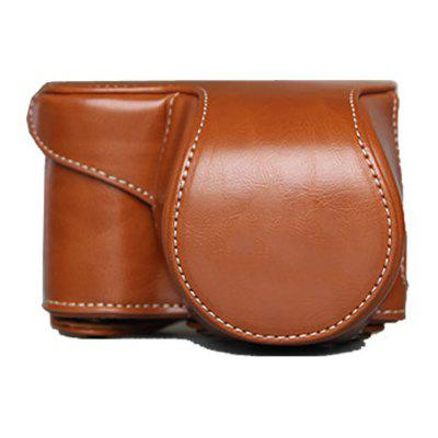PU Leather Camera Case Bag Cover for Sony A5100 A5000 ILCE-5100 16-50 Lens