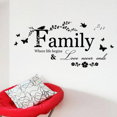 Family Quote PVC Wall Sticker