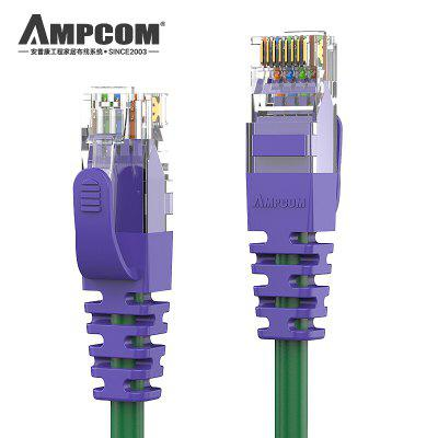 AMPCOM CAT6 Network Patch Lan Cable Cord 1000 mbps OFC Gold-plated Plug