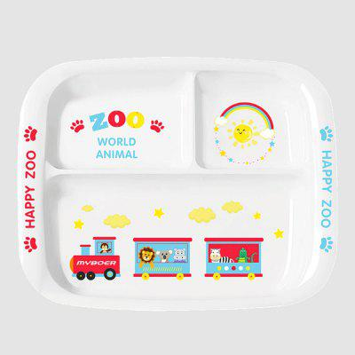 Children's cartoon Three grid plate BPA-Free Eco Friendly and Safe