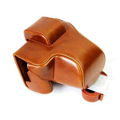 PU Leather Camera Case Bag Cover for Canon EOS M5 / M50 15-45mm lens
