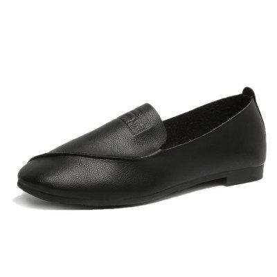 New Womens Round Head Low heel Middle Singles