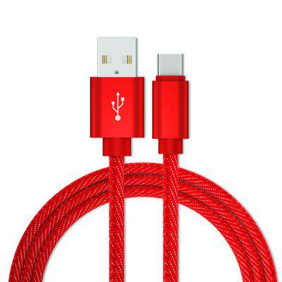 Type-C USB Cable 1M Denim Charge  Data Cable  Android Mobile Phone USB Charging