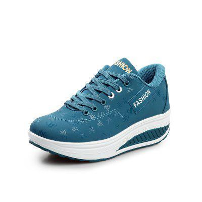 Women Stylish Lace Up Sneakers Breathable Shock-Absorbing Sports Shoes