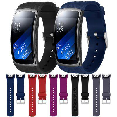 Replacement Silicone Sport WristBand Strap For Samsung Gear Fit 2 Metal Buckle