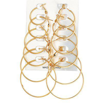 6-Pairs Simple Fashion Lady's  Earring