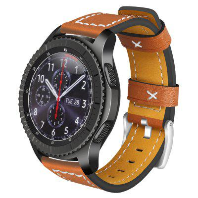22 MM echt lederen band Watch Band voor Samsung Gear S3 Frontier / Classic